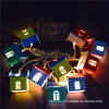 10LED 태양 정원 나무로 되는 집 램프 (RS1011)