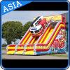 Glissade gonflable gigantesque pour camions d'incendie pour fête et fête d'enfants