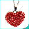 Joyas de piedra roja collar de aleación de corazón (fn16041806)