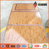 Comitato di alluminio del composto della decorazione di struttura di legno del poliestere