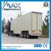 Semi-remolque de caja de carga de carga seca refrigerada de tres ejes