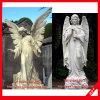 Scultura di scultura di marmo bianca occidentale di angelo del marmo della statua di angelo