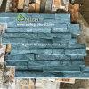 Impiallacciatura di pietra coltivata ardesia verde naturale flessibile poco costosa