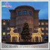 クリスマスLED 3Dのトナカイのモチーフの屋外の装飾ライト
