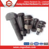 T noir Shaped Flange Oval Head Bolt avec Nut