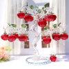 Дешевые Crystal Apple Tree с персональными логотип для свадьбы выступает за