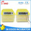 Hhd führte heißes automatisches Huhn-Ei-Inkubator-Cer Yz-96
