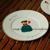 De Plaat van de Pizza van het Email van de Plaat van Roung/Keukengerei Cookware Enamelware/de Boter Plantaardige Schotel van de Plaat