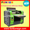 A3 Size Flatbed Printer UV para PVC Card, Phone Caso Printing