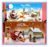 Cartão de Natal estereoscopicamente barato do cumprimento do teste padrão do presente do Natal