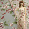 混合ポリエステルが付いている豪華で多彩な刺繍のオーガンザの生地