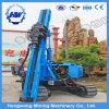 Para la fundación de la planta solar I después de la instalación hidráulica utiliza de forma Ramming Pile Driver