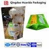 Sacchetto inferiore di plastica dell'imballaggio del rinforzo con la chiusura lampo per l'alimento di cane