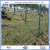 有刺鉄線の塀ハイウェイのガードレールのネット