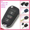 Verre Sleutel voor Peugeot 408 met 3 FCC ID2012DJ7678/2012DJ7679 Fsk van Knopen 433MHz