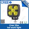 25W indicatore luminoso di nebbia giallo del CREE LED per resistente