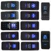 12V 20A Bar Arb 5p Push Rocker Toggle Switch Blue LED Light Waterproof