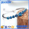 Moda Sapphire Crystal Heart Bangle
