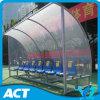 Cobertizos del fútbol del abrigo del equipo de fútbol de la economía con los asientos plásticos del jugador
