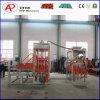 Bloque concreto automático de la pavimentadora que hace la formación del surtidor de la máquina