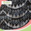 編まれ、編むナイロンスパンコールの黒い網の化学レースファブリック