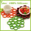 Het Silicone Placemat van de Mat van de Kop van het Silicone van de Rang van het Voedsel van 100%