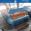 O painel ondulado da telhadura lamina a formação da maquinaria