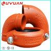 La abrazadera del tubo ranurado con 1-1/4 de la empaquetadura de caucho EPDM