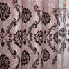 100%Polyester 3 Passed Coated Bling Blackout Flocking Fabric per Curtain