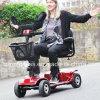 trotinette elétrico de quatro rodas novo da mobilidade 2018 com assento dobro