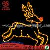屋外のクリスマスのトナカイライト休日の装飾ライトをつける大きいLED