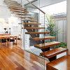 Gerades Glastreppenhaus des modernen Entwurfs-2017 mit festem Eichen-Treppenhaus-Schritt