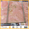 Marbre d'Onyx rose en pierre normal Polished pour des tuiles de mur de fond