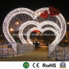 Forma de corazón la luz LED para la boda