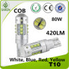 Indicatore luminoso di vendita caldo dell'automobile 80W LED di Ebay (T10 BA9S T15)