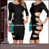 Robes coupées sexy de Bodycon de club de vente chaude mini (TP4138)