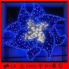 파란 주제 꽃 LED 벽 훈장 빛