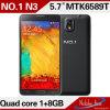 Mtk6589t boort de Beste Vierling van de Kwaliteit Nr 1 Nota 3 Slimme Telefoon Polular (nr 1 NOTA 3) uit