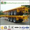 3 Aanhangwagen van de Vrachtwagen van het Vervoer van de Container van het Platform van de as Flatbed