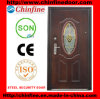 Security d'acciaio Door con Glass (CF-066)