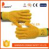 2017 Ddsafety тяжелый вес желтого цвета перчатки с ПВХ мед гребень план