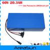 celle di Panasonic 2900mAh di uso della batteria di litio di 60V 20ah