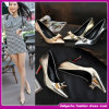 2015 Última cores brilhantes Leather Senhoras salto alto, Stiletto saltos de sapatos de salto alto para as mulheres (C-202)