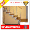 Sencillez de diseño escaleras de madera con material de acero de seguridad