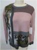 55% Viscose 40% Nylon 5% Cashmere Sweater for Women /Ladies