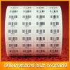 Стикер печатание Barcode изготовленный на заказ печатание Cmyk UV слипчивый