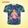 T-shirt promotionnel fait sur commande en gros de New York, usine de T-shirt de la Chine, T-shirt changeant de couleur