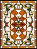 L'impression de bronze porte en verre Verre décoratif Vitraux