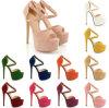 Multi ботинок женщин высокой пятки кожи типа цвета