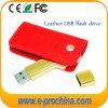 革財布(EL015)が付いている金キーの形USBのフラッシュ駆動機構